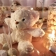Candy Bar in the Restaurant, Children's Party, Birthday, a White Teddy Bear with a Butterfly on Her - VideoHive Item for Sale