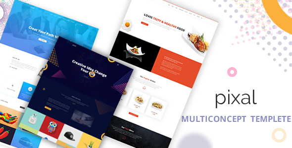Pixal - Creative Multipurpose Template - Portfolio Creative