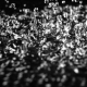 Strong Vibration Lifts the Water Drops Up. Black Background. - VideoHive Item for Sale