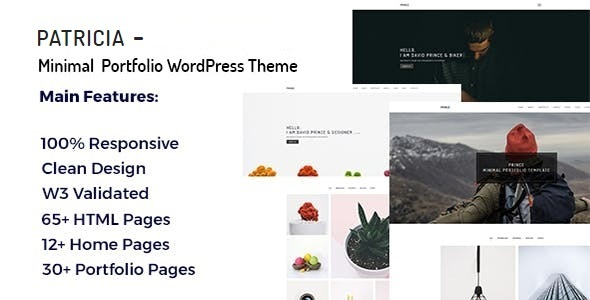 Image of Patricia - Minimal Portfolio WordPress Theme