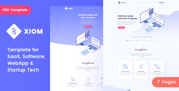 XIOM – SaaS, Software, WebApp and Startup Tech PSD Template