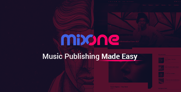 mixone -  wordpress music magazine with continuous music playback (music and bands) Mixone –  WordPress Music Magazine With Continuous Music Playback (Music and Bands) 1 mixone