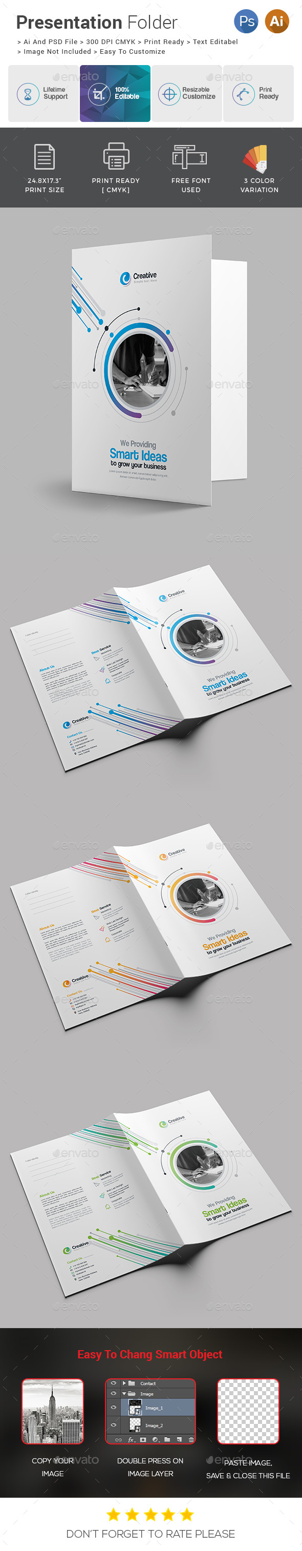 Presentation Folder - Stationery Print Templates