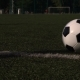 Traditional Soccer Ball on Green Grass Playground - VideoHive Item for Sale