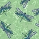 Pattern of Dragonflies and Tomato Branches. - GraphicRiver Item for Sale