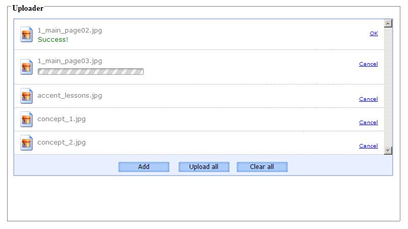 PHP AJAX Multiple File Upload Control