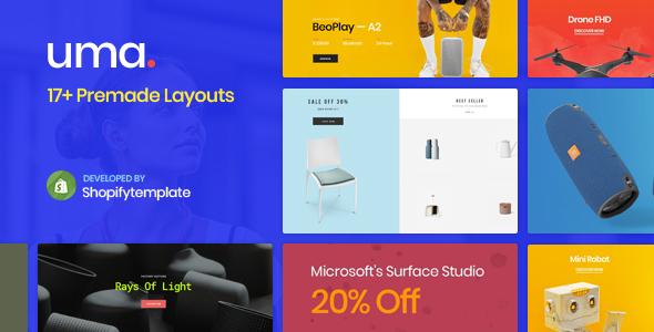 Uma Store – Minimal Clean Shopify Theme