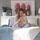 Girl with Mobile Phone in Bed - VideoHive Item for Sale
