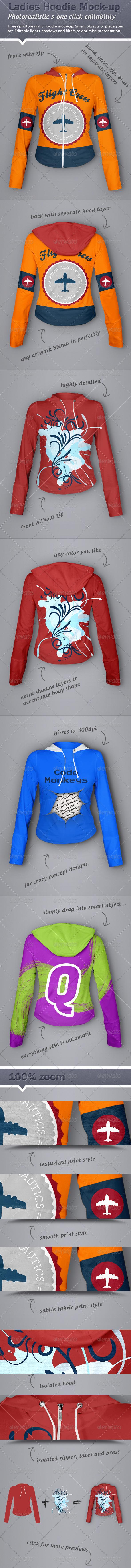 Hoodie Mock-Up - Ladies Version - T-shirts Apparel