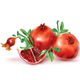 Pomegranate Fruits and Cut Fruit - GraphicRiver Item for Sale