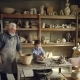 Young Grandson Is Molding Clayware in His Grandfathers's Studio While His Loving Senior Grandpa - VideoHive Item for Sale