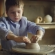 Young Boy Student of Pottery Class Is Molding Clay on Potter's Wheel, Learning Traditional Craft - VideoHive Item for Sale