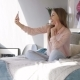 Girl with Mobile Skype in Bed - VideoHive Item for Sale