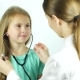 The Doctor Gives a Stethoscope To the Girl and She Listens To the Beating of Her Heart - VideoHive Item for Sale