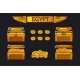 Egypt Antique Treasure Chest and Golden Coins - GraphicRiver Item for Sale