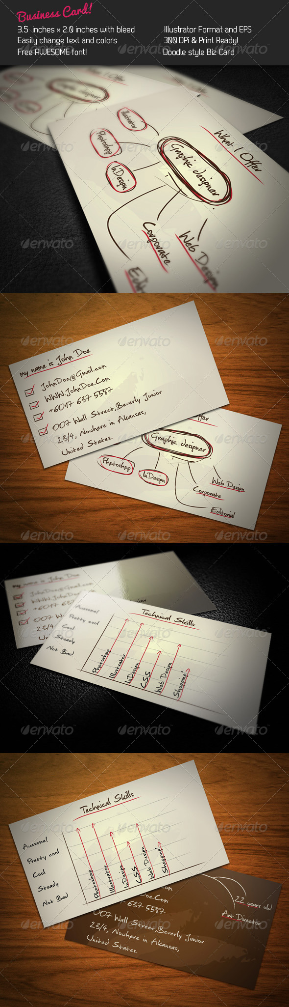 Doodle Business Card - Creative Business Cards