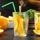 Pouring Water in a Glass with Fresh Cutted Slices of Oranges - VideoHive Item for Sale