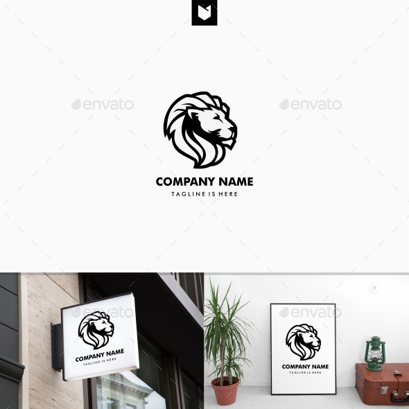 Lion Head King Logo - Animals Logo Templates