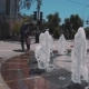 Children with Parents Play at the Fountain - VideoHive Item for Sale