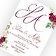 Marsala Wedding Invitation - GraphicRiver Item for Sale