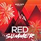 Red Summer Flyer Template