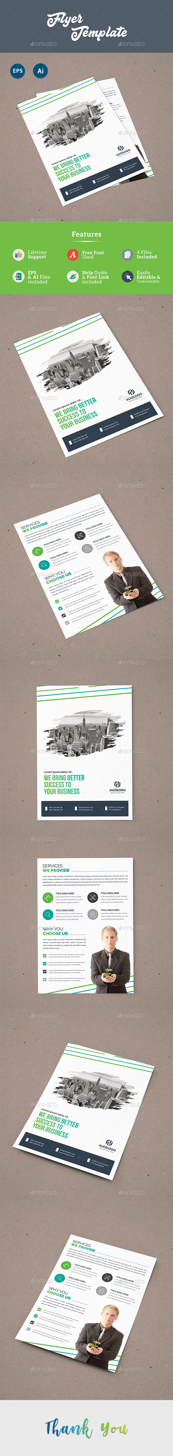 Both Side Flyer Template - Corporate Flyers