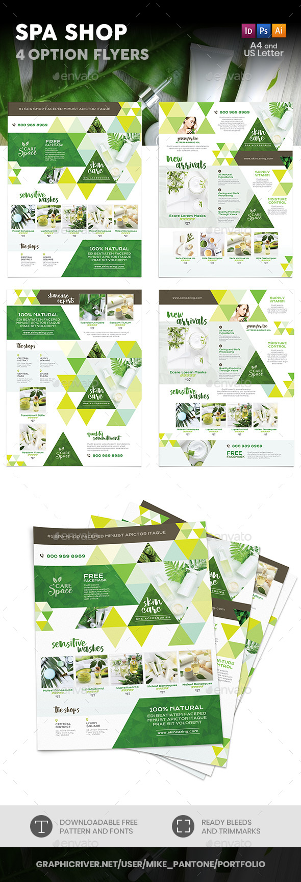 Spa Shop Flyers – 4 Options - Corporate Flyers