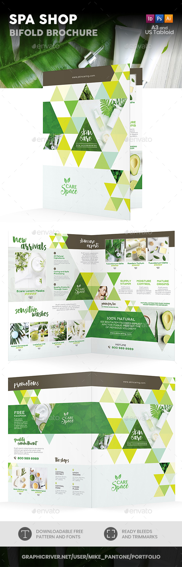 Spa Shop Bifold / Halffold Brochure - Informational Brochures