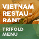 Vietnamese Restaurant Trifold Menu 4 - GraphicRiver Item for Sale