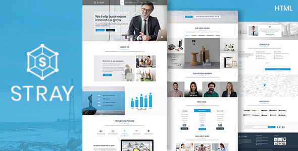 Stray Business Landing Page HTML Template Bootstrap - Landing page html template