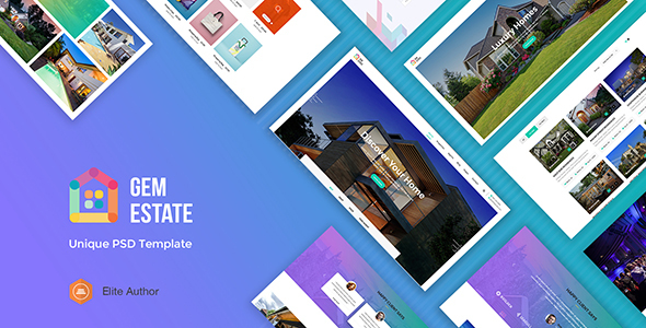 GEMESTATE - Modern Real Estate & Rental PSD Template - Business Corporate