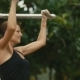 Woman Exercising in the Outdoor Gym - VideoHive Item for Sale
