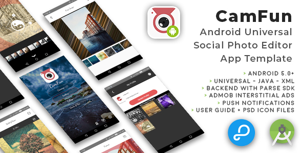 CamFun | Android Universal Social Photo App Template - CodeCanyon Item for Sale