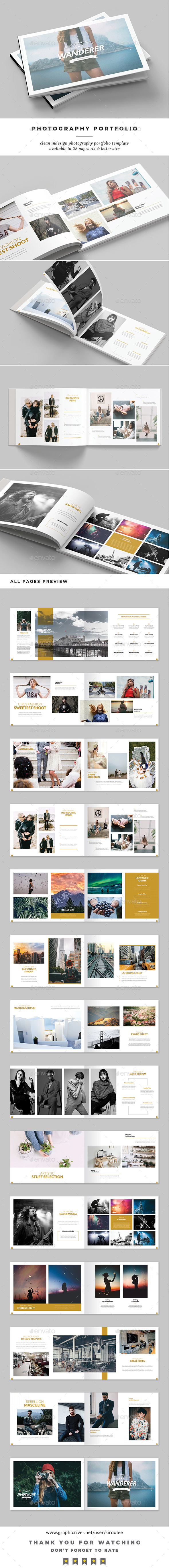Photography Portfolio - Photo Albums Print Templates