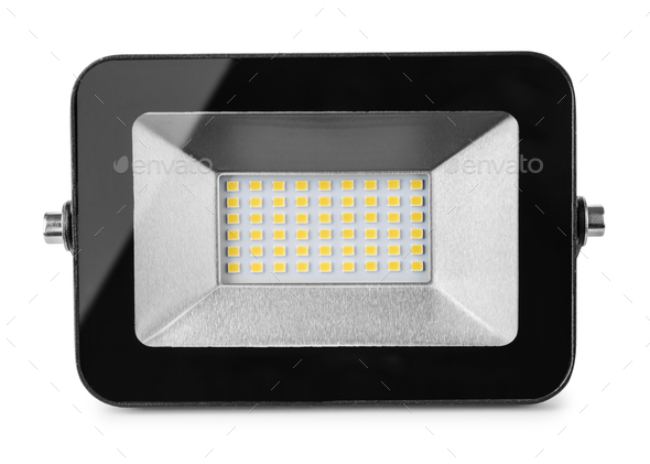 Front view of LED flood light - Stock Photo - Images