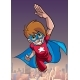Super Boy Flying Sky Background