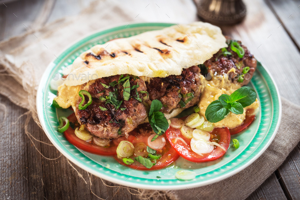 Fresh tasty homemade  burger - Stock Photo - Images