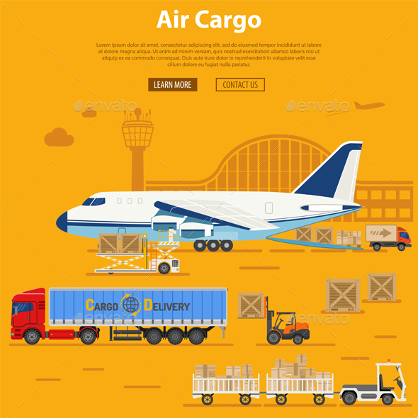 Air Cargo Delivery and Logistics - Travel Conceptual
