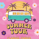 Summer Hippies Tour Flyer - GraphicRiver Item for Sale