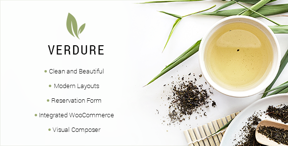 Image of Verdure - A Modern Tea House and Shop Theme