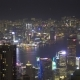 Hong Kong City at Night, View From Victoria Peak - VideoHive Item for Sale