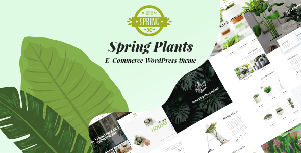 Spring Plants – Gardening & Houseplants WordPress Theme