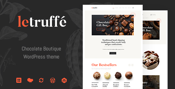 Le Truffe | Chocolate Boutique WordPress Theme - Food Retail