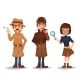 Set of Detective Characters - GraphicRiver Item for Sale