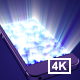 Phone Light Rays 4K - VideoHive Item for Sale