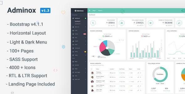 Adminox - Responsive Admin Dashboard & Frontend - Admin Templates Site Templates