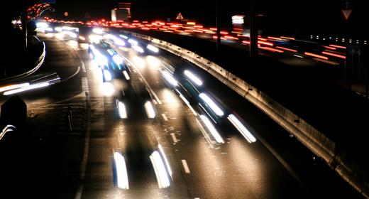 Highway Multiple Lane Time Lapse