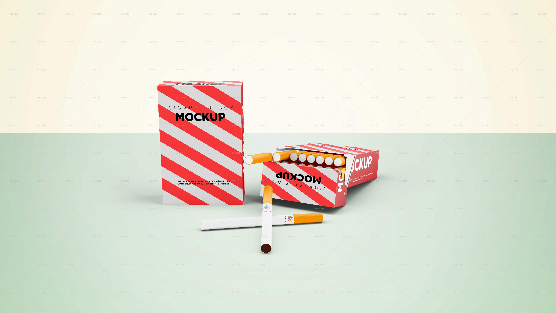 Cigarette Box Mockup