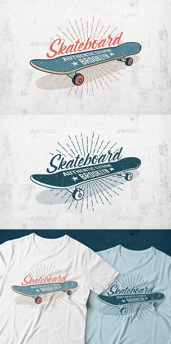 Skateboard Retro Print - Sports/Activity Conceptual