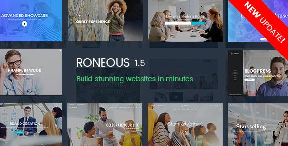 Roneous - Creative Multi-Purpose WordPress Theme